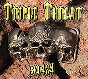 Skull Jewelry - Triple Threat by Dire Needz