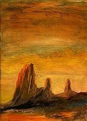 Arizona Landscape Painting - Triplets by Graham Murray