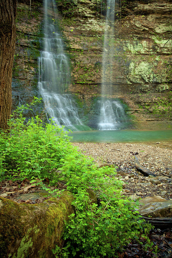 Landscape Photograph - Tripple Falls In Springtime by Iris Greenwell