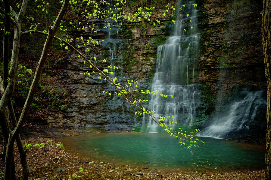 Waterfalls Photograph - Tripple Falls by Iris Greenwell