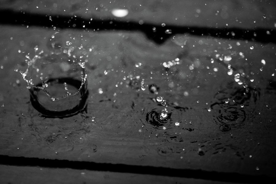 Water Photograph - Tripple Splash by Digiblocks Photography