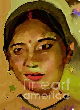 Indian Painting - Tripti Singh by Noredin Morgan