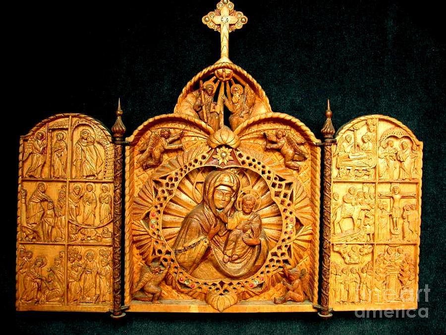 New Testament Sculpture - Triptic - New Testament - On Request by Sorin Apostolescu