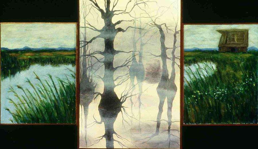 Triptych Painting - Triptych by Helen O Hara