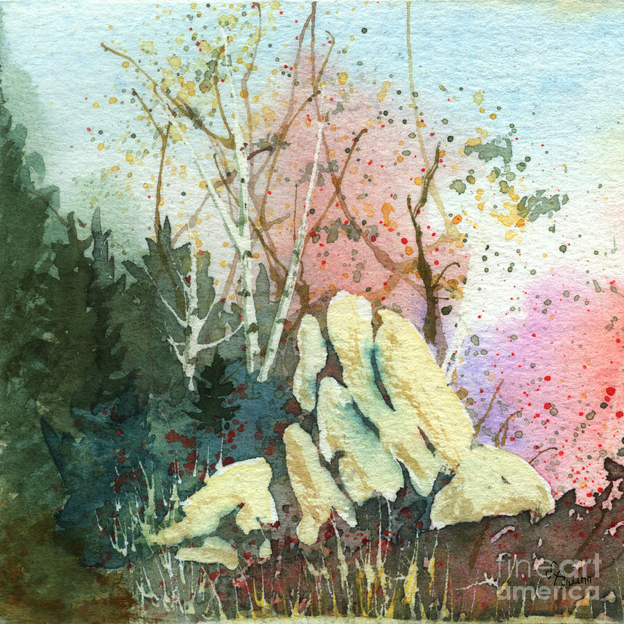 Landscape Painting - Triptych Panel 1 by Lynn Quinn