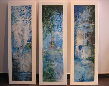 Meditation Painting - Triptych SPIRITUAL MEDITATION by Lizzy Forrester
