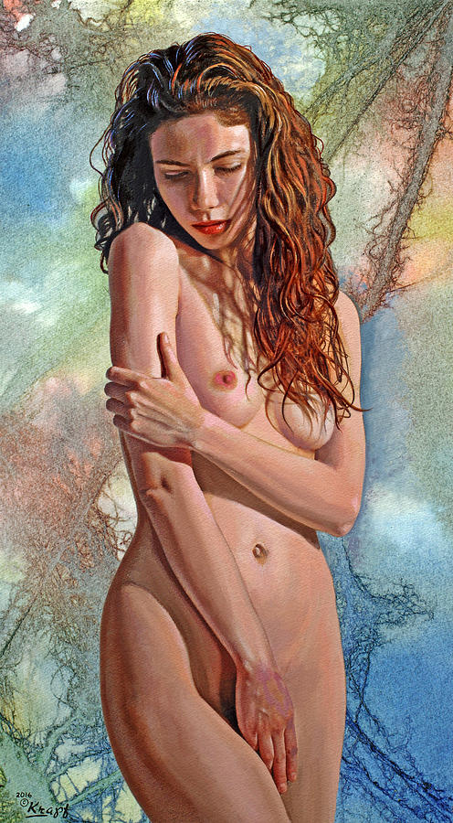 Figure Painting - Trisha by Paul Krapf