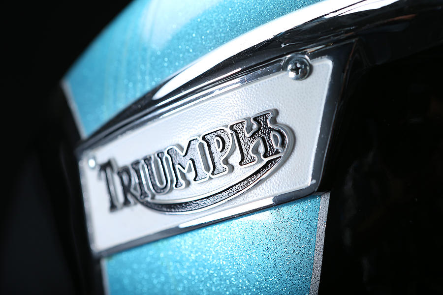 Triumph Photograph - Triumph Badge by Keith May
