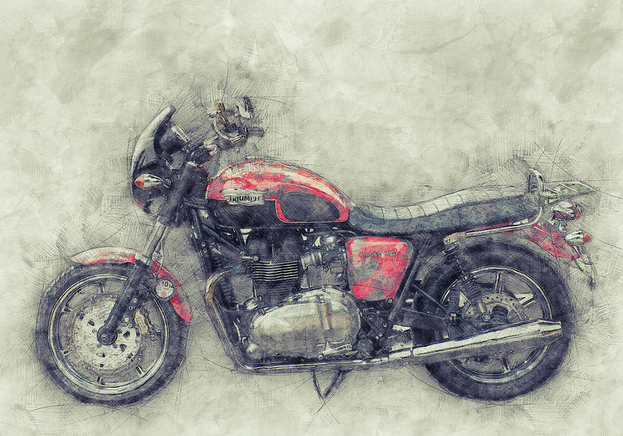 Triumph Bonneville Mixed Media - Triumph Bonneville 1 - Standard Motorcycle - 1959 - Motorcycle Poster - Automotive Art by Studio Grafiikka