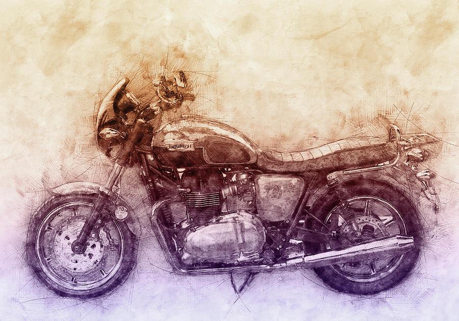 Triumph Bonneville Mixed Media - Triumph Bonneville 2 - Standard Motorcycle - 1959 - Motorcycle Poster - Automotive Art by Studio Grafiikka