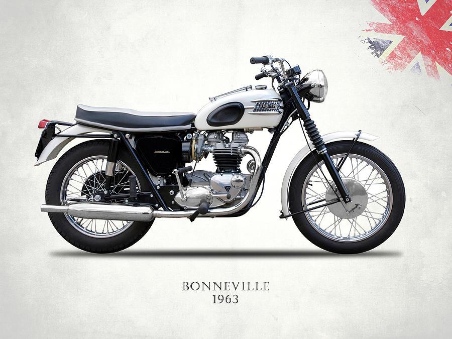 Triumph Bonneville T120 Photograph - Triumph Bonneville 63 by Mark Rogan