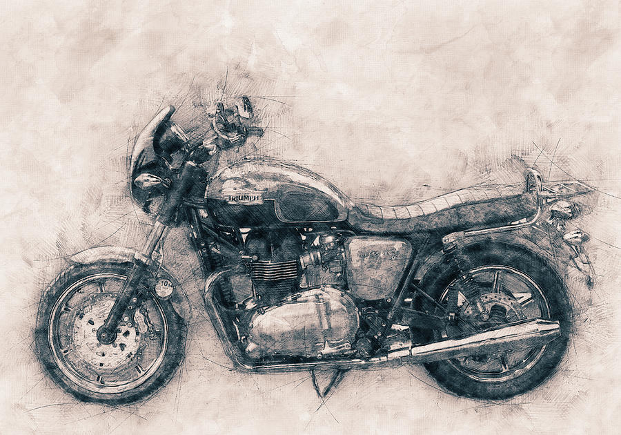 Triumph Bonneville Mixed Media - Triumph Bonneville - Standard Motorcycle - 1959 - Motorcycle Poster - Automotive Art by Studio Grafiikka
