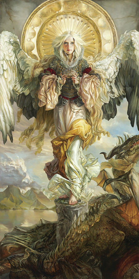 Angel Painting - Triumph by Heather Theurer