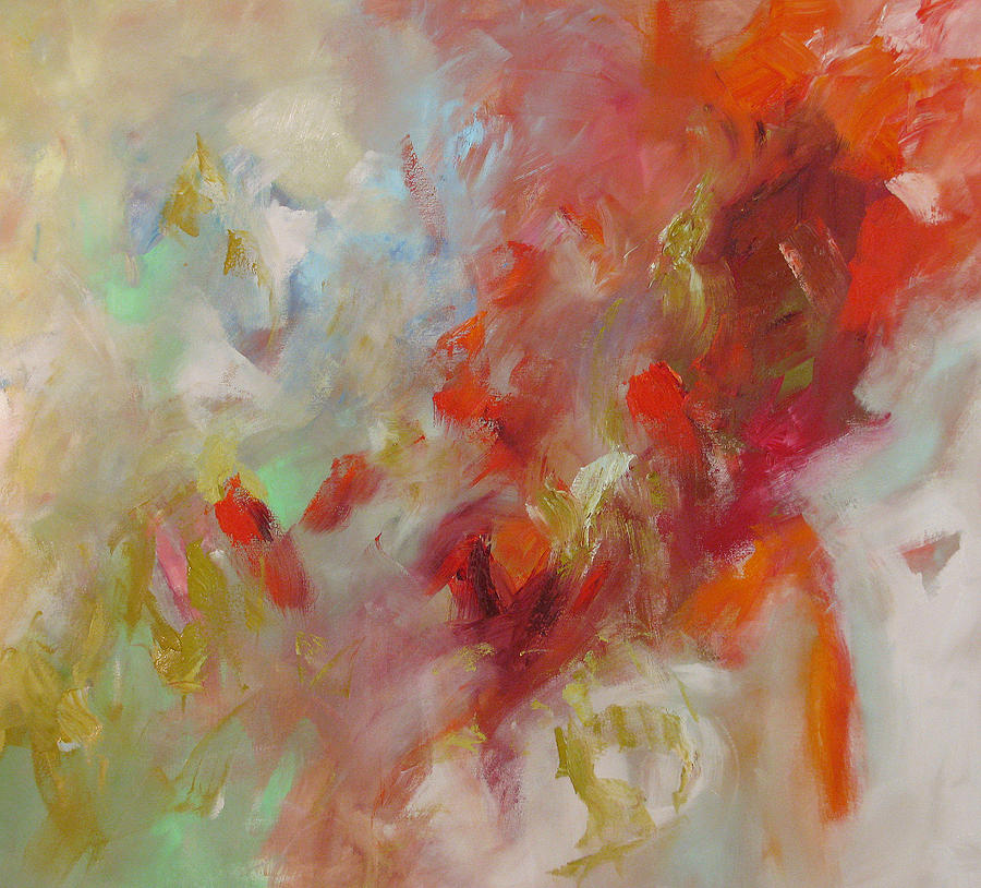 Abstract Painting - Triumph by Linda Monfort