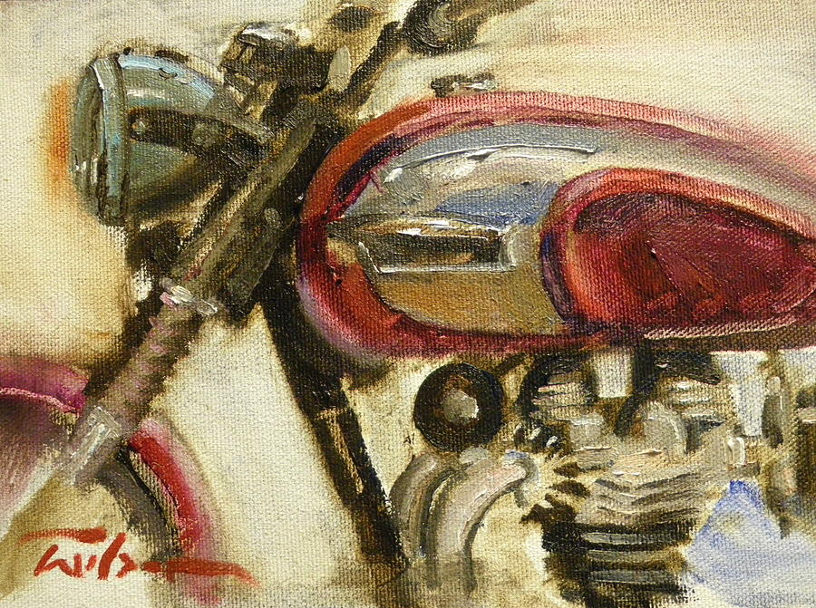 Triumph Painting - Triumph Tr6p Enhanced by Ron Wilson