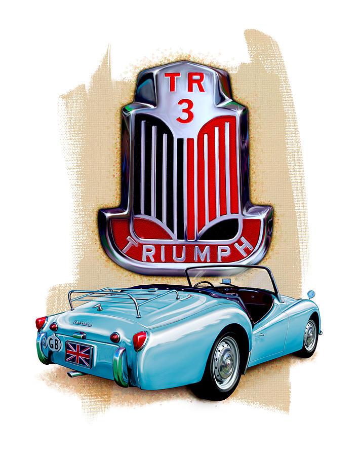 Triumph TR-3 Lite Blue by David Kyte