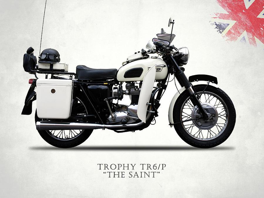 Triumph Photograph - Triumph Tr6p - The Saint by Mark Rogan