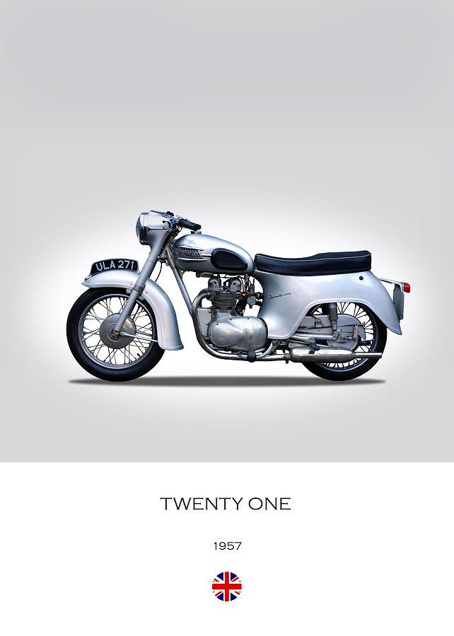 Triumph Twenty One Photograph - Triumph Twenty One 1957 by Mark Rogan