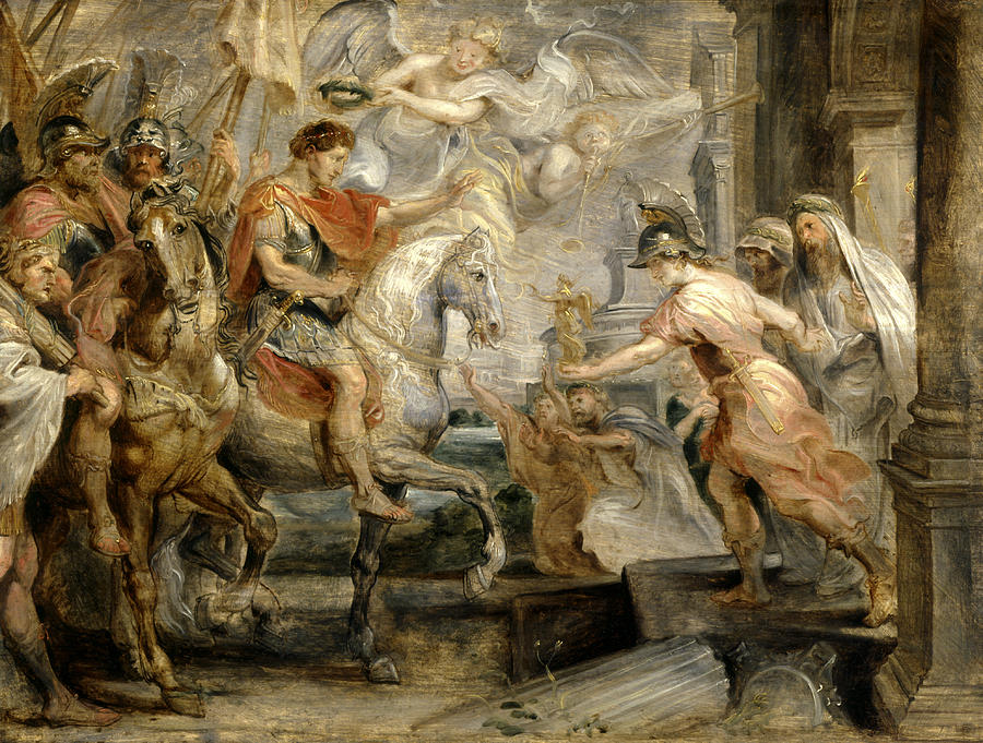 Peter Paul Rubens Painting - Triumphant Entry Of Constantine Into Rome by Peter Paul Rubens