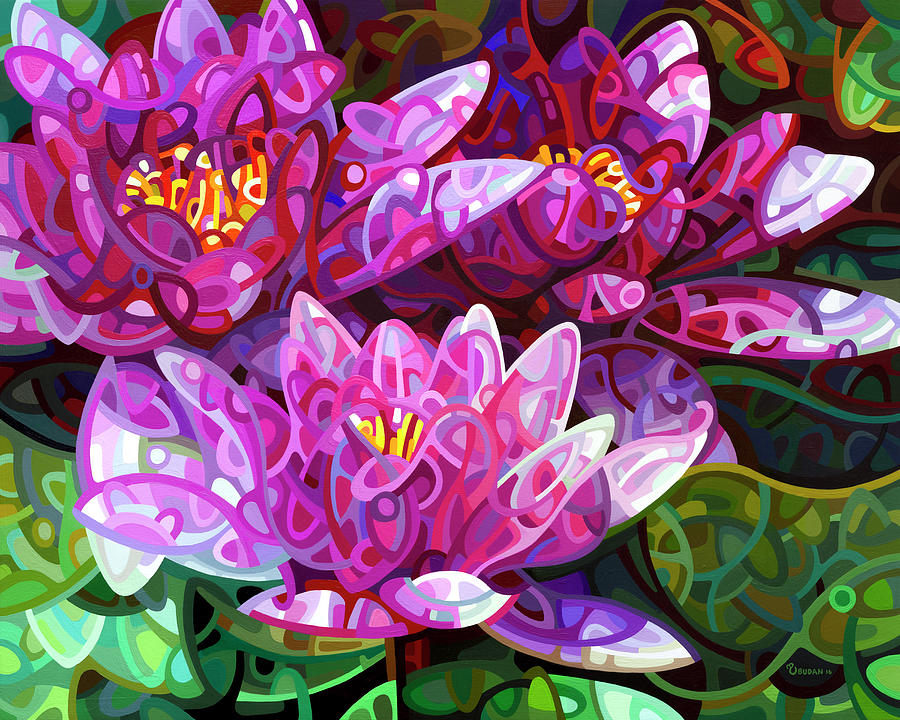 Floral Painting - Triumvirate by Mandy Budan