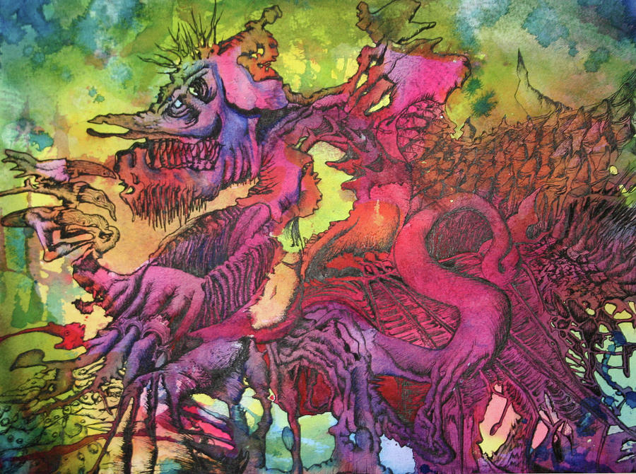 Dragon Painting - Trogdor by James Rickard