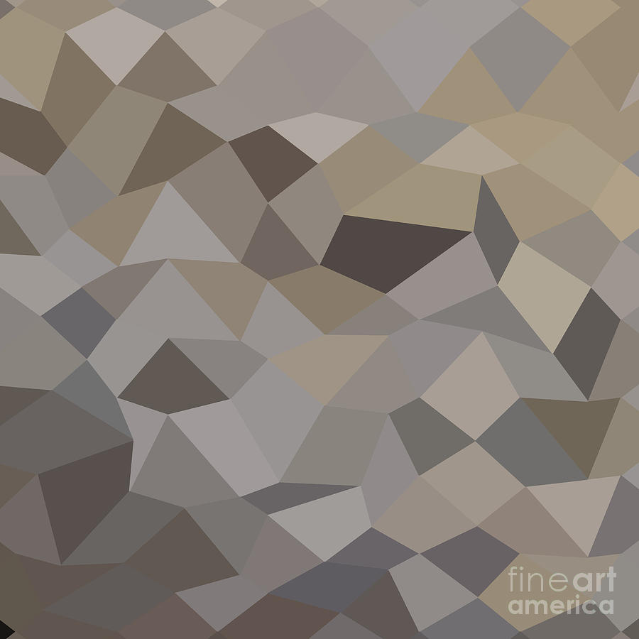 Abstract Digital Art - Trolley Grey Abstract Low Polygon Background by Aloysius Patrimonio