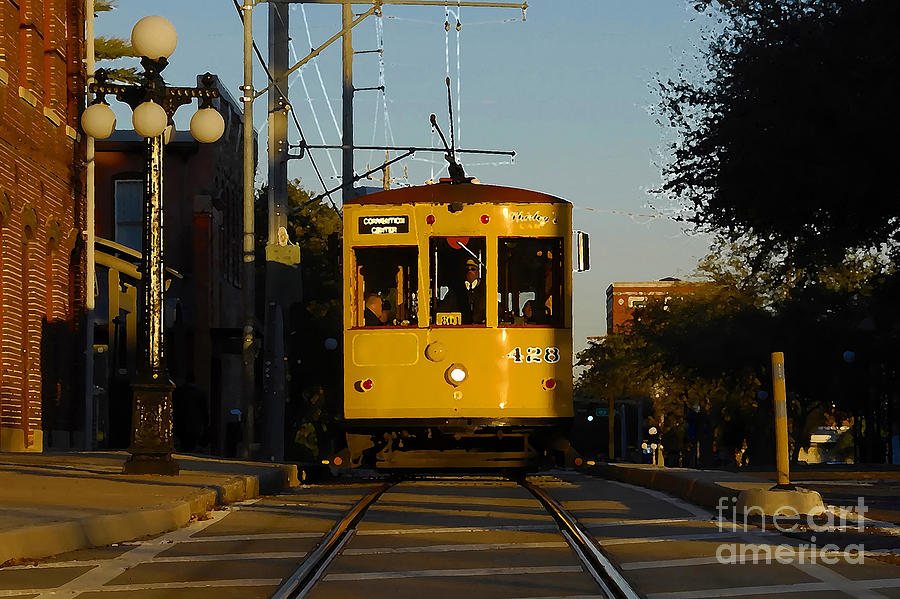 Trolley Photograph - Trolley Ride by David Lee Thompson