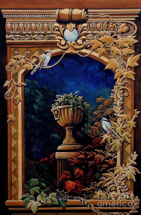 Original Painting - Trompe L Oeil by Pamela Roehm