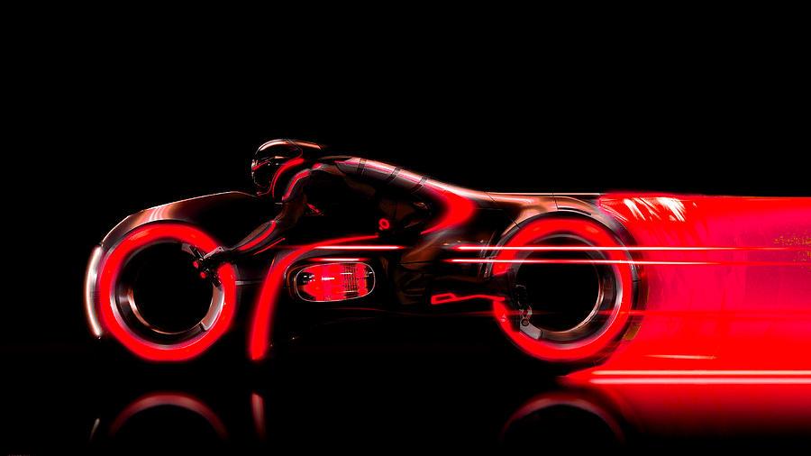 Tron Legacy Digital Art - Tron Legacy by Dorothy Binder