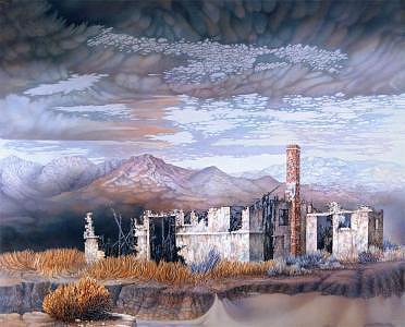 Landscape Painting - Trona Road Runes by John Fitzgerald