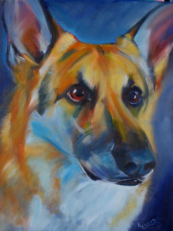 Shepherd Painting - Trooper by Kaytee Esser
