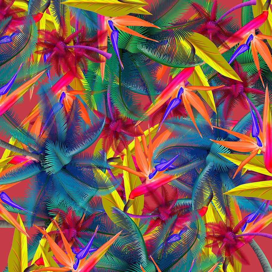 Cherry Painting - Tropical  7 by Mark Ashkenazi