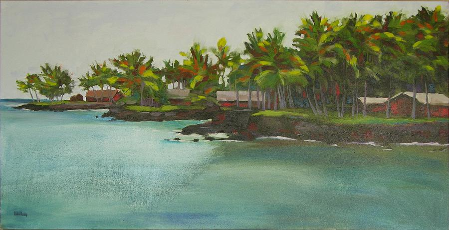 Oil Painting - Tropical Bay by Mary McInnis
