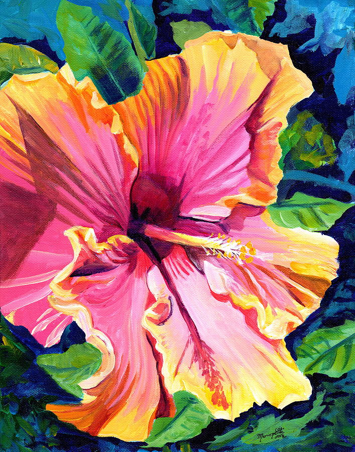 Tropical Bliss Hibiscus by Marionette Taboniar