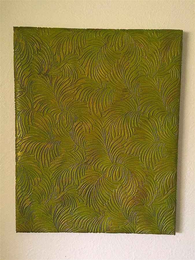 Tropical Painting - Tropical Palms Canvas Green - 16x20 Hand Painted by Artistic Mystic