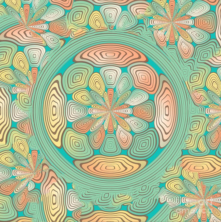 Geometric Digital Art - Tropical Color Abstract by Gaspar Avila