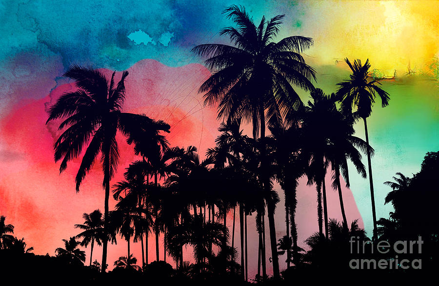 Summer Painting - Tropical Colors by Mark Ashkenazi