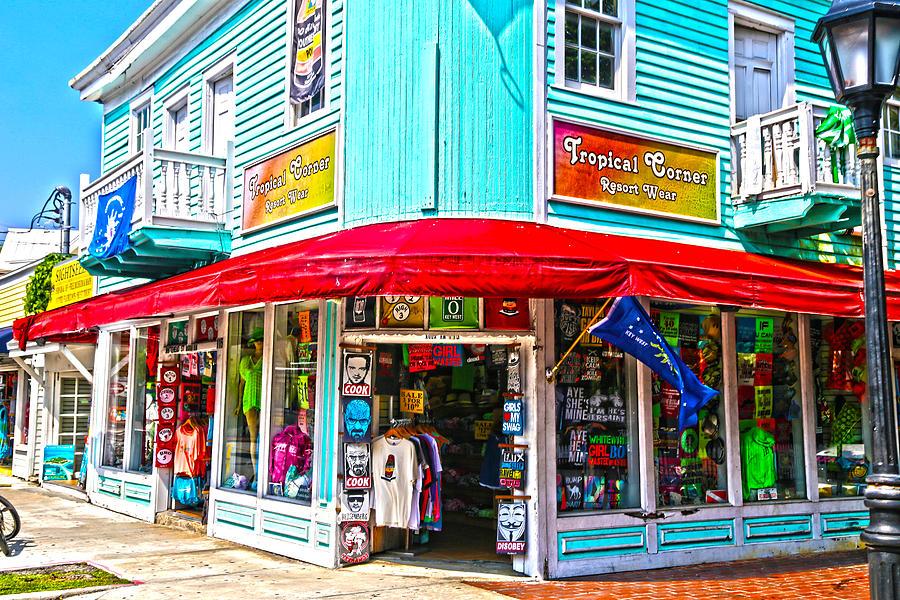 Key West Photograph - Tropical Corner Key West Florida by Lee Vanderwalker