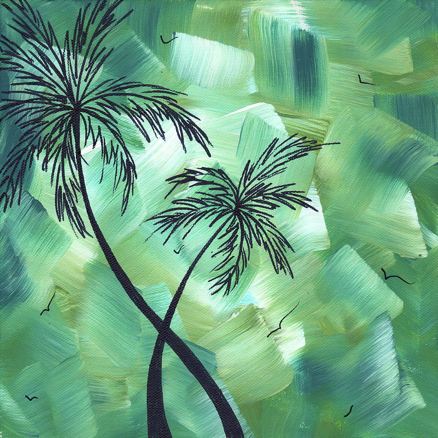 Wall Painting - Tropical Dance 3 By Madart by Megan Duncanson