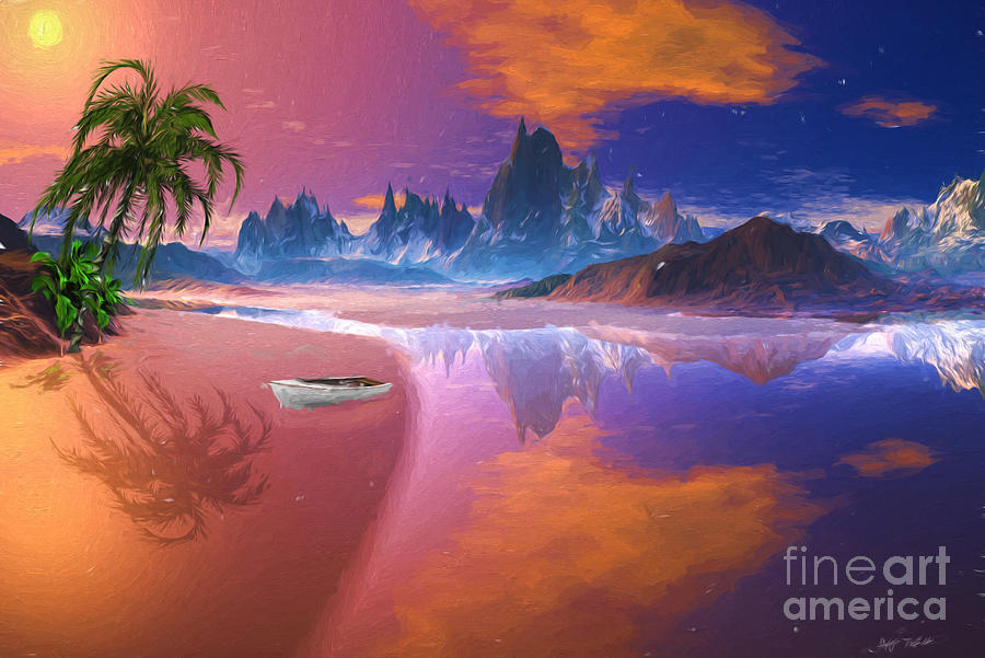 Seascape Digital Art - Tropical Dream Island Beach by Heinz G Mielke