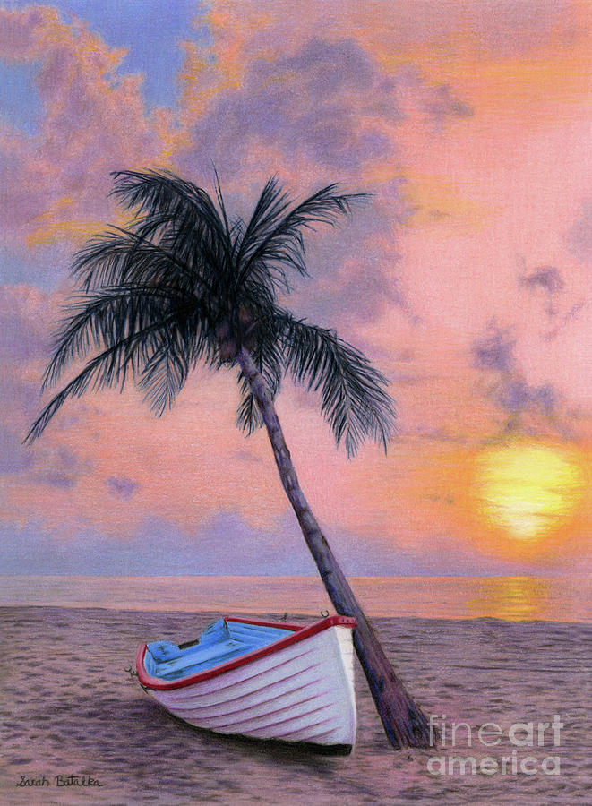 Tropical Painting - Tropical Escape by Sarah Batalka