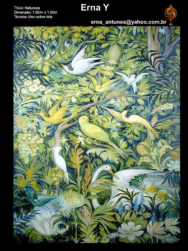Tropical Fauna Painting by Erna Y
