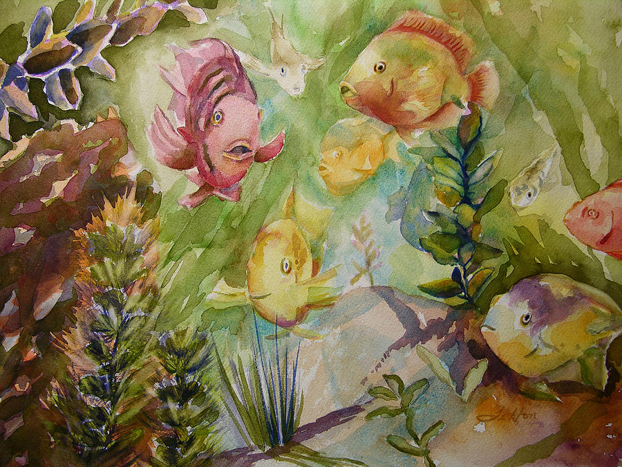 Watercolor Painting - Tropical Fish 4 by Julianne Felton