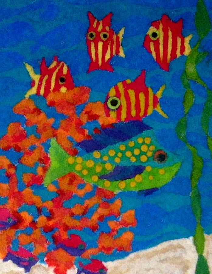 Tropical Digital Art - Tropical Fish by Jeanette Lindblad