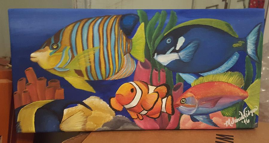Tropical Fish Painting - Tropical Fish by Melanie Widgeon