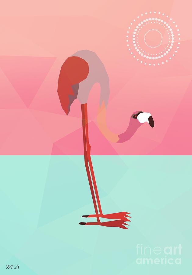 Flamingo Digital Art - Tropical Flamingo by Mark Ashkenazi