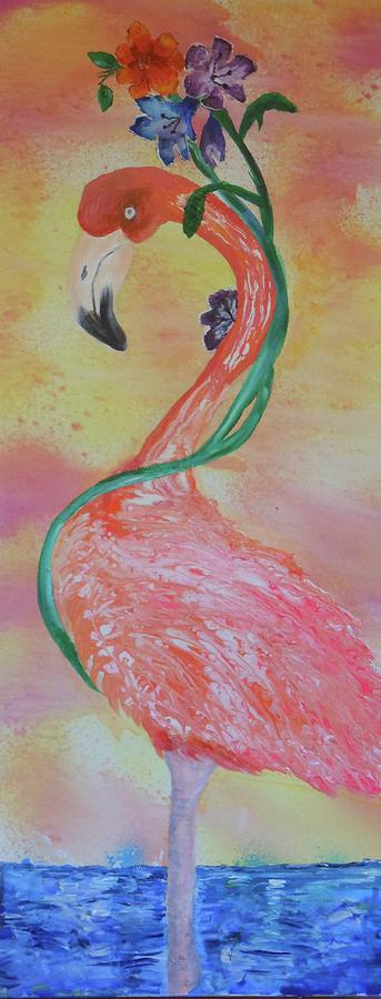 Tropical Flamingo by Pam Halliburton