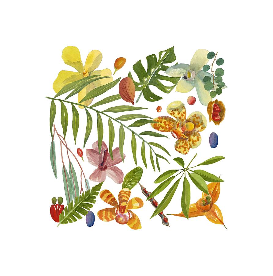 Tropical Painting - Tropical Flora by World Parrot Trust