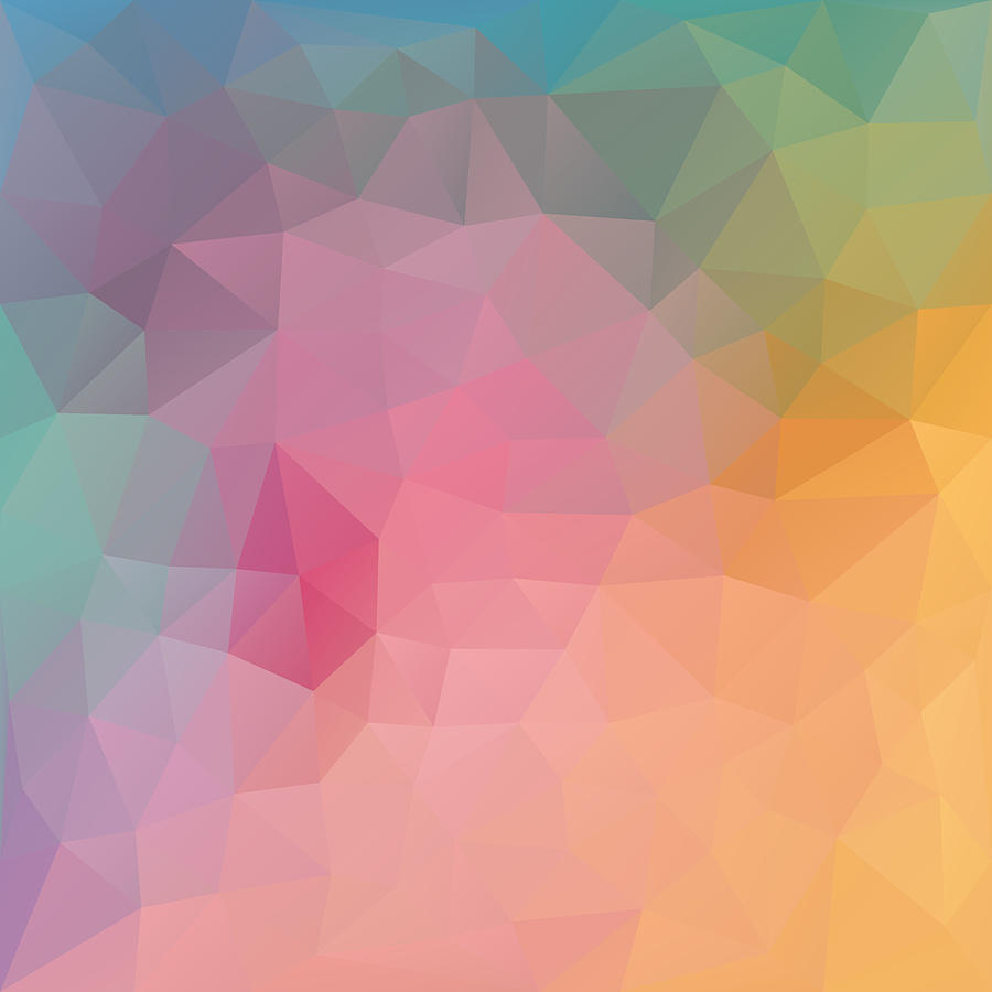 Geometric Digital Art - Tropical Fruit by Nessikk
