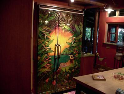 Ice Boxes Painting - Tropical Ice Box Doors by Kealoha  Pa